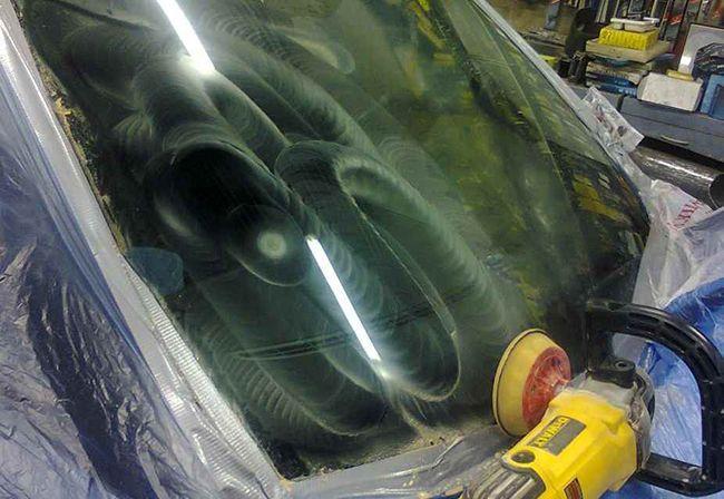 152 polirovka stekla - Чем убрать царапины на лобовом стекле автомобиля