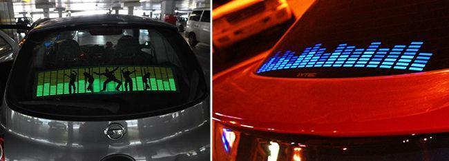 Эквалайзер на стекло в машину