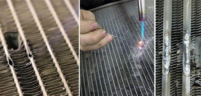 Чем заделать радиатор автомобиля