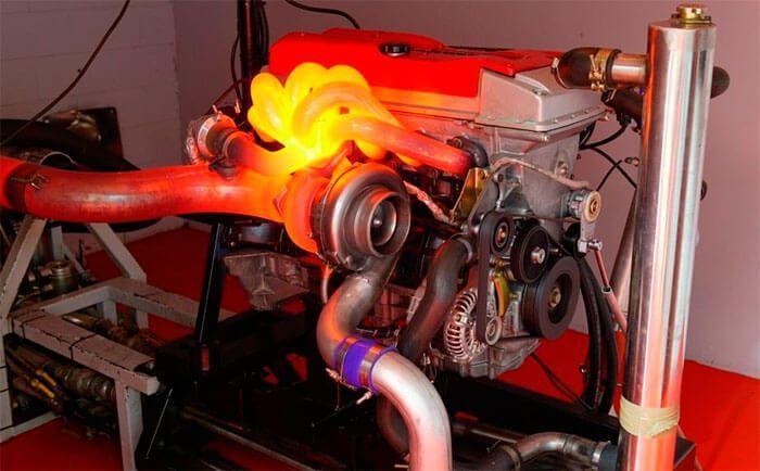 Вот так может нагреваться турбина во время работы